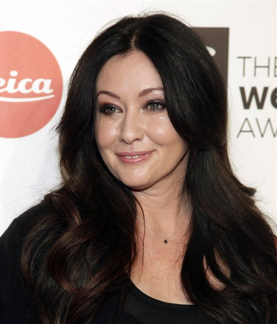 Actress Shannen Doherty attends the 2014 Webby Awards on Monday, May 19, 2014, in New York. Doherty will be at Toronto ComiCon this weekend. THE CANADIAN PRESS/AP/Photo by Andy Kropa/Invision/AP