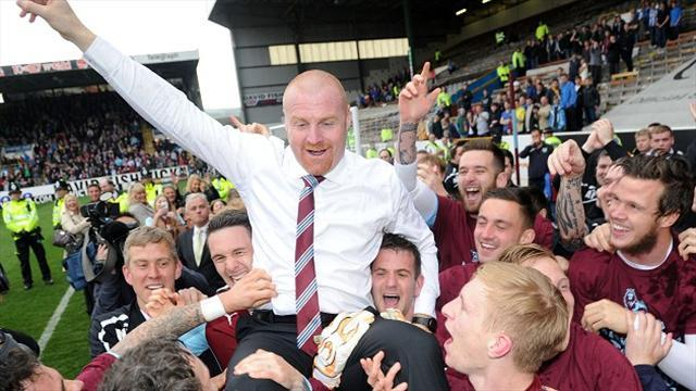 Championship - Dyche delighted as Burnley go up