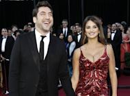 FILE - This Feb. 27, 2011 file photo shows actors Javier Bardem, left, and Penelope Cruz at the 83rd Academy Awards in the Hollywood section of Los Angeles. A publicist confirmed, Tuesday, Feb. 12, 2013 that Bardem and Cruz are expecting their second child. (AP Photo/Matt Sayles, file)