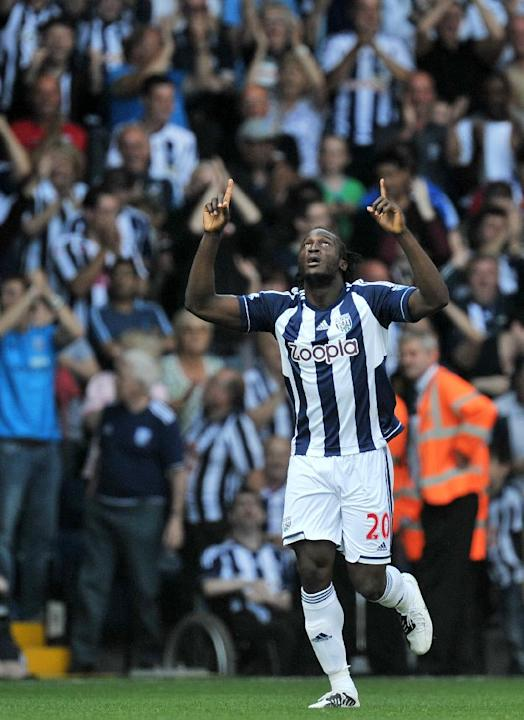 Romelu Lukaku scored West Brom's third goal against Liverpool on Saturday