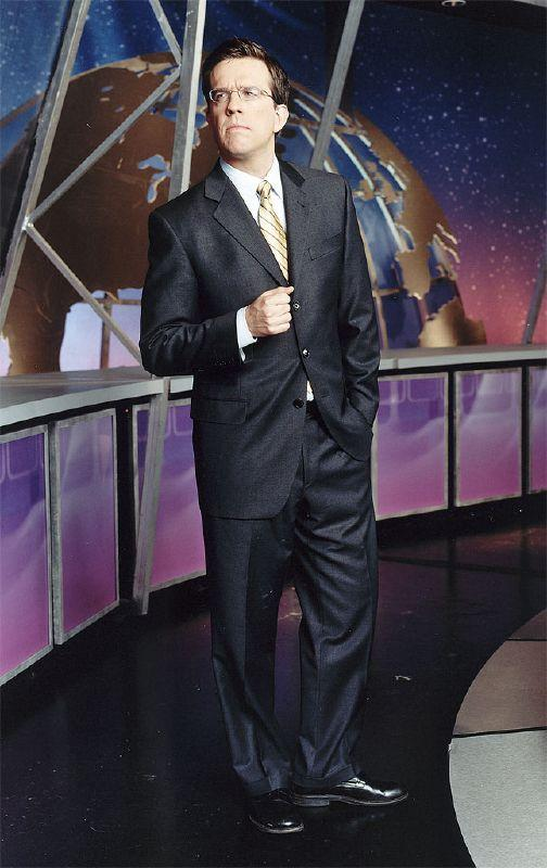 Ed Helms performs in The Daily Show on Comedy Central.