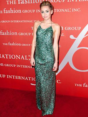Miley Cyrus Goes Glam, Ladylike in Sparkly Backless Gown, Dodges Question About Love: Pictures