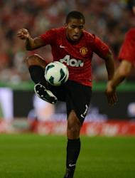 Manchester United's Antonio Valencia during a mathc in August. Alex Ferguson has problems on the flanks, with Nani out with a hamstring injury and Valencia doubtful due to a hip problem