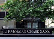 """Sign outside the JP Morgan Chase building on Park Avenue in New York. JPMorgan Chase's shares were pummeled and politicians blasted its CEO Jamie Dimon after the bank reported a shock $2 billion derivatives loss that even the pugnacious chief executive called """"egregious."""""""