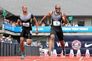 Maurice Mitchell and Walter Dix compete in the men's 100 meter dash semi final during Day Three of the 2012 US Olympic Track & Field Team Trials at Hayward Field on June 24, in Eugene, Oregon. Dix lost a chance for a sprint medal repeat at the US Olympic Track and Field Trials