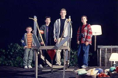 "Dewey (Erik Per Sullivan, L), Reese (Justin Berfield, LC), Francis (Christopher Masterson, RC) and Malcolm, (Frankie Muniz, R) scheme to create the biggest Halloween prank the neighborhood has ever seen in the ""Halloween Approximately"" episode of Fox's Malcolm In The Middle"