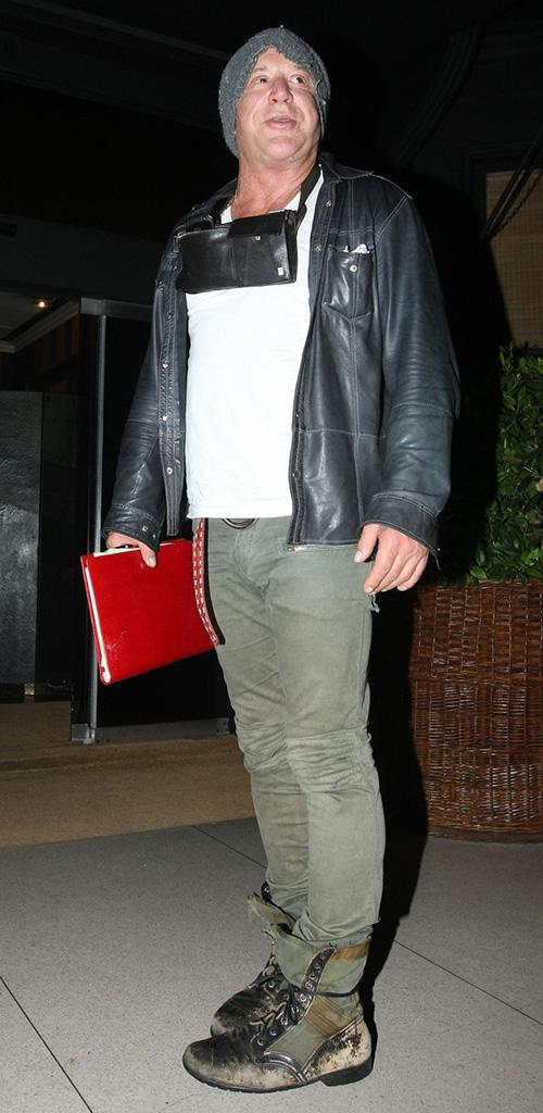 Mickey Rourke pictured returning back to his Hotel after partying at DSTRKT nightclub in London
