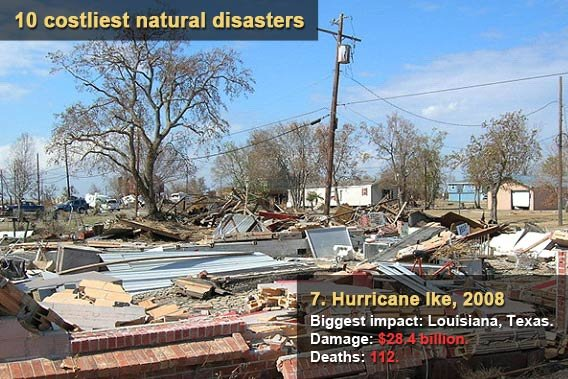 10 costliest natural disasters - Hurricane Ike