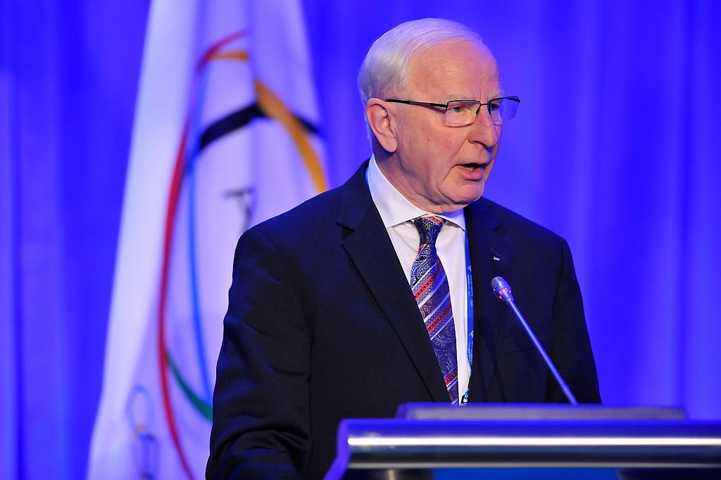 Patrick Hickey, a member of the International Olympic Committee, speaks at a conference in 2015. (Getty)