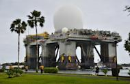 Image provided by the US Navy on March 22, 2013 shows the Sea-based, X-band Radar (SBX 1) in Pearl Harbor, Hawaii. The US has scrambled to reinforce its Pacific missile defences, preparing to send ground-based interceptors to Guam