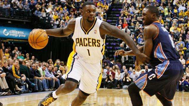 Basketball - Stephenson leads Pacers to win over Bobcats