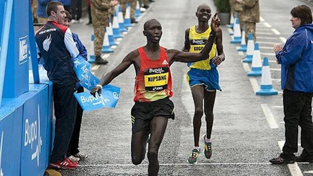 Kenya's Wilson Kipsang wins the 2012 Great North Run (PA Sport)