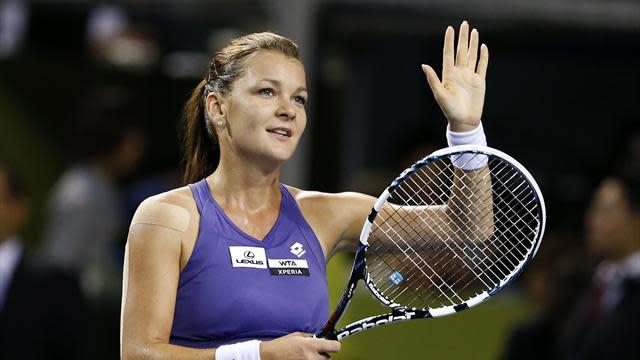 WTA Championships - Radwanska beats Kvitova in Istanbul opener