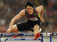 This file photo, taken on May 19, shows Liu Xiang of China winning the men's 110m hurdle event during the Diamond League athletics meet in Shanghai. Liu plans to celebrate his birthday by sending a warning to his Olympic rivals on his first appearance at the London Grand Prix on Friday