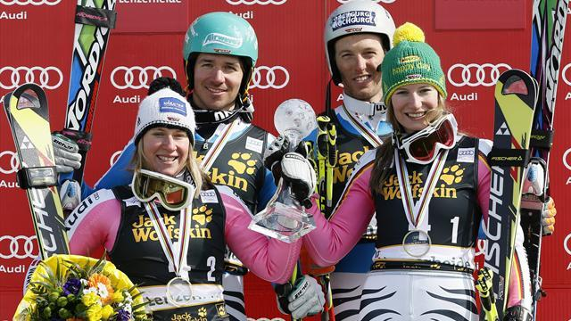 Alpine Skiing - Germans win team event in Lenzerheide