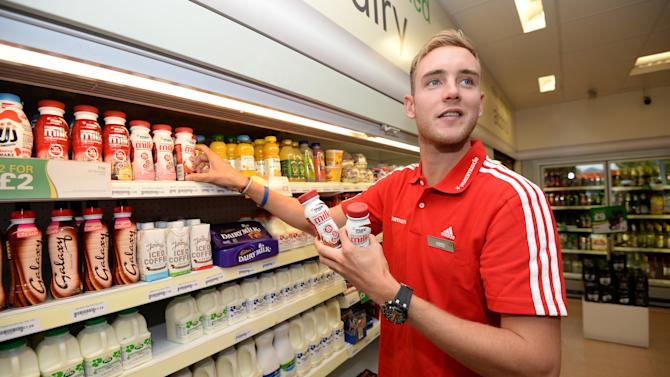 Cricket - Stuart Broad Photocall - Hatton Cross BP Garage