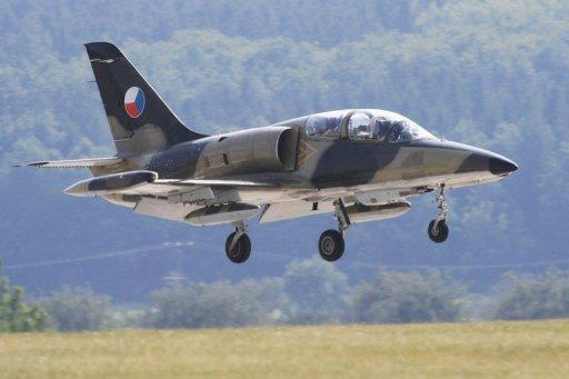 A Czech L-159 aircraft lands at the Namest air force base near Brno. Iraq will buy 28 Czech-made L-159 training jets valued at $1 bn (770 mn euros), Czech Defence Minister Alexandr Vondra said in Prague on Friday