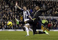 Chelsea striker Daniel Sturridge stretches for the ball against West Brom in the English Premier League on November 17, 2012. The England international has been heavily linked with a move to Liverpool but could feature for the Londoners against Leeds in the League Cup