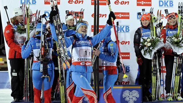Biathlon - Russia claim maiden biathlon mixed relay victory