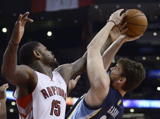 Randolph leads Grizzlies past Raptors 88-82
