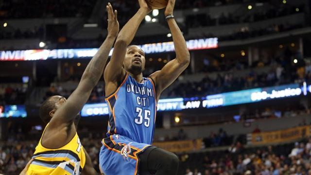 Basketball - Durant leads Thunder to win over Nuggets