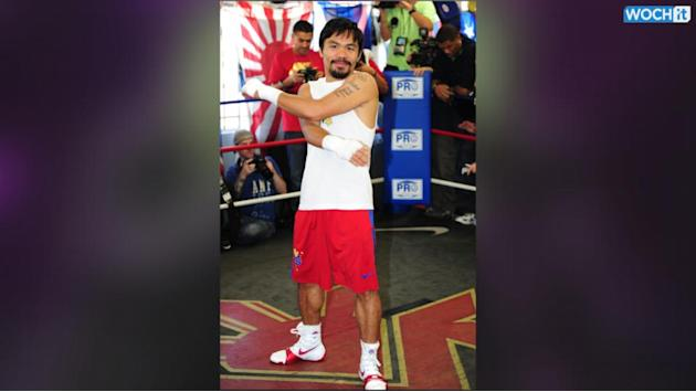 Manny Pacquiao -- Bloody Trunks Sell For $40k ... At Charity Auction