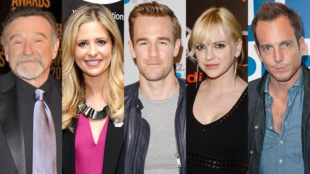 Robin Williams, Sarah Michelle Gellar, James Van Der Beek, Anna Faris, and Will Arnett