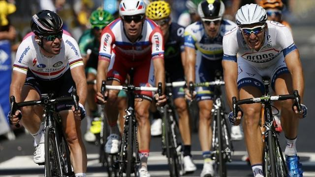 Tour de France - Cavendish loses out to Kittel again in stage 12