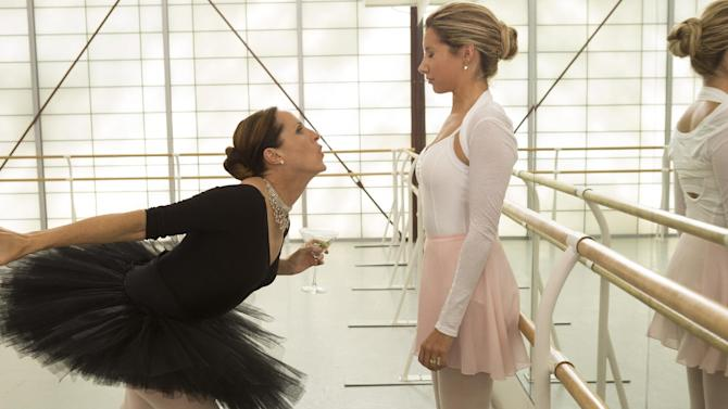 """This film publicity image released by Dimension Films/The Weinstein Co. shows Molly Shannon, left, and Ashley Tisdale in a scene from """"Scary Movie 5."""" (AP Photo/Dimension Films/The Weinstein Co., Quantrell D.Colbert)"""
