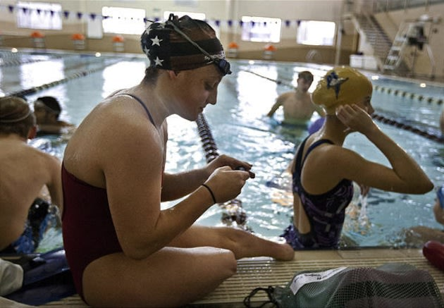 Lehi swimmer Amy Chapman was born without legs, but has still competed in varsity swimming and a handful of other able-bodied sports — Deseret News