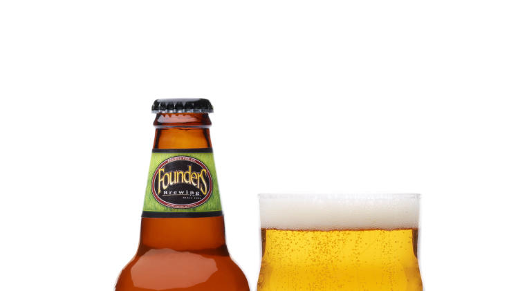 This undated publicity photo provided by Founders Brewing Co. shows All Day IPA session ale. (AP Photo/Founders Brewing Co., Mitch Ranger)
