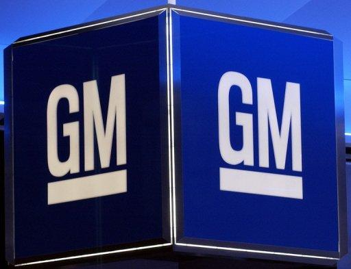 File picture of the corporate logo for the General Motors Corporation. The Canadian Auto Workers (CAW) union, which reached an agreement earlier this week with Ford, has now struck a deal with GM that will preserve full employment as well as create 1,750 new jobs.