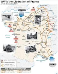 Map and chronology of the 1944 liberation of France from the Nazis