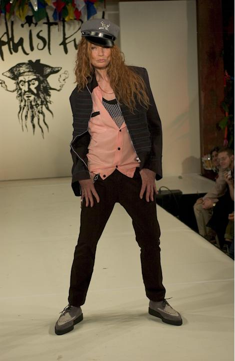 On the runway in 2004