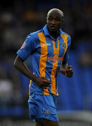 Marvin Morgan scored both of Shrewsbury's goals in the draw with Hartlepool