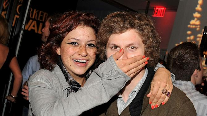 Alia Shawkat and Michael Cera attend the 2011 New Yorker Festival Party Hosted By David Remnick at Andaz 5th Avenue on October 1, 2011 in New York City.