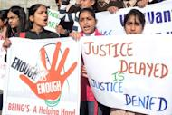Indian students shout slogans during a rally in Amritsar on December 20, 2012, against a recent rape that took place in New Delhi