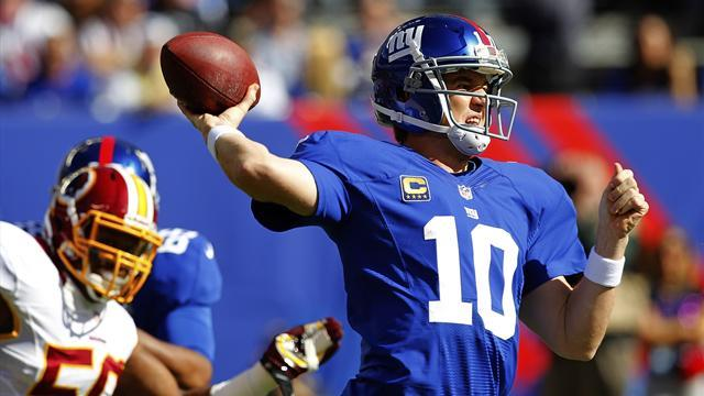 NFL  - Late Manning heroics see Giants win thriller over Redskins
