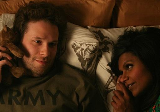 Exclusive Mindy Project Hot Shots: Seth Rogen 'Bears' All to Mindy – in Bed!