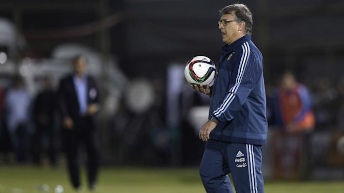 Argentina boss Martino not satisfied with draw