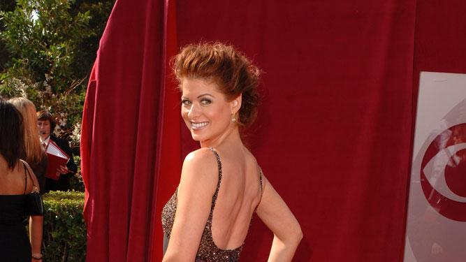 Debra Messing at The 57th Annual Primetime Emmy Awards.