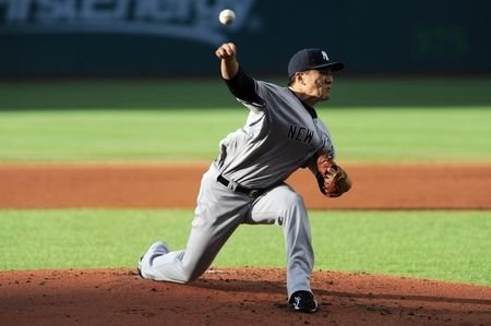 Masahiro Tanaka will be out at least six weeks rehabbing an elbow injury. (USA TODAY Sports)