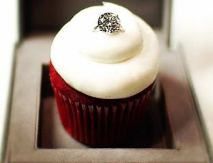 What looks better: the ring or the cupcake?