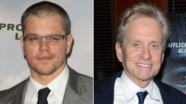 Matt Damon and Michael Douglas