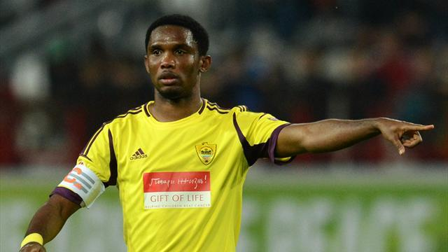 Eto'o scores brace as Anzhi beat Young Boys