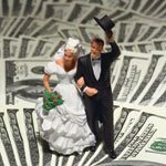 cake topper on money