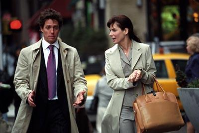 Hugh Grant and Sandra Bullock in Warner Brothers' Two Weeks Notice