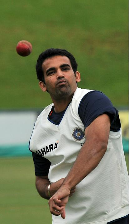 Indian cricketer Zaheer Khan attends a t