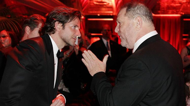 The Weinstein Company's 2013 Golden Globe Awards After Party Presented By Chopard, HP, Laura Mercier, Lexus, Marie Claire, And Yucaipa Films - Inside: Bradley Cooper and Harvey Weinstein