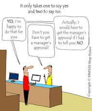 Customer Service Tool: One to Say Yes, Two to Say No image One to say YES and two to say NO Low Res